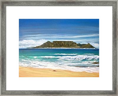 Table Mountain Framed Print by Heather Matthews