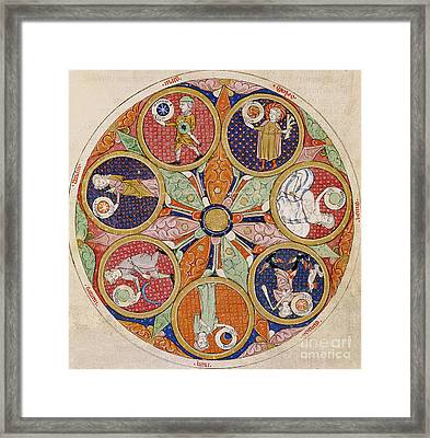 Table Of Planets Framed Print by Matfre Ermengau