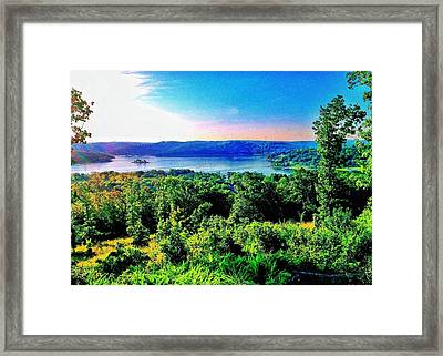 Table Rock Lake Framed Print by John Derby