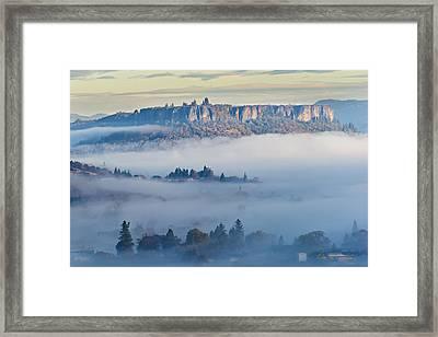 Table Rock Morning Framed Print