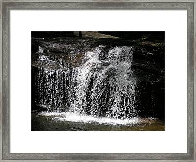 Table Rock South Carolina Water Fall Framed Print by Diane Frick