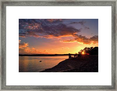 Framed Print featuring the photograph Table Rock Sunset by Cricket Hackmann