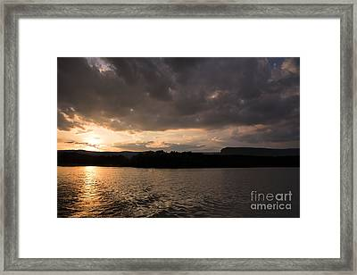 Table Rock Sunset Framed Print