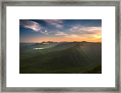 Table Rock Sunset Framed Print