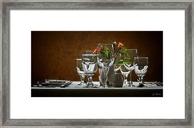 Framed Print featuring the photograph Table Setting by Joe Bonita
