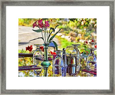 Table Setting Reflections Signed 3041 18x24 Framed Print