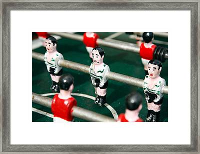 Table Soccer Framed Print by Gaspar Avila