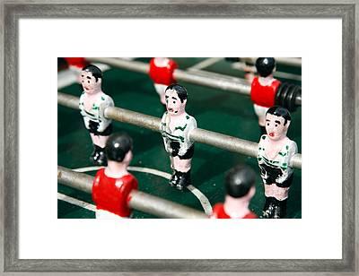 Table Soccer Framed Print by Gaspar Avila