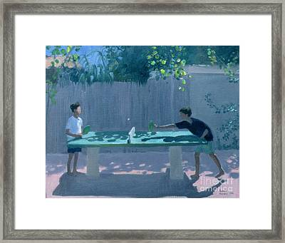 Table Tennis Framed Print by Andrew Macara