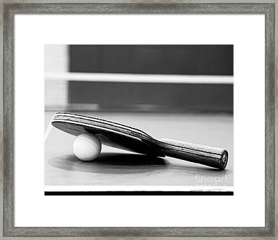 Table Tennis Champ Framed Print by Emily Kay