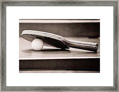 Table Tennis Framed Print by Emily Kay
