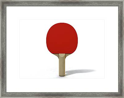 Table Tennis Paddle Framed Print