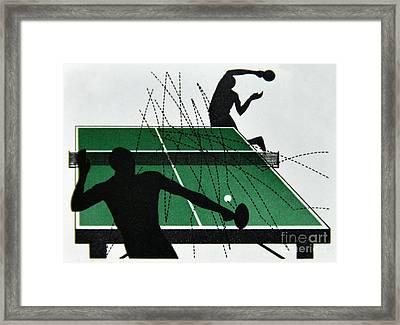 Table Tennis. Framed Print