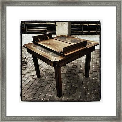 Framed Print featuring the photograph Table That Thought. This Beautiful by Mr Photojimsf