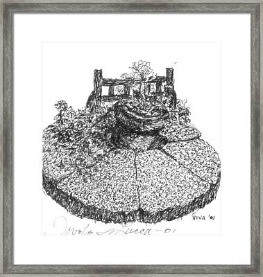 Table Top In Italy Framed Print by VIVA Anderson
