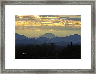 Table Top Mountain Framed Print