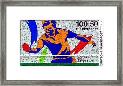 Tabletennis Sport 89 Framed Print