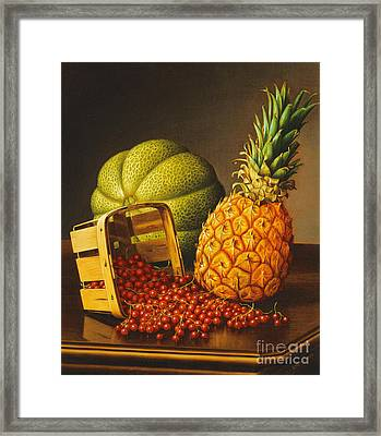 Tabletop Still Life With Fruit Framed Print