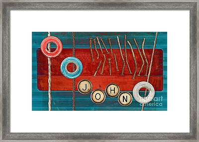 Tablo - 01b - John Framed Print by Variance Collections