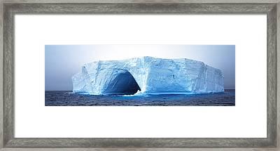 Tabular Iceberg Antarctica Framed Print