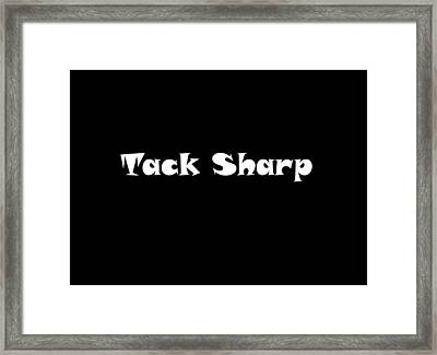 Tack Sharp  Framed Print by Pat Cook