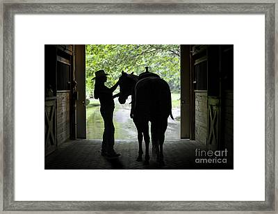 Tackin' Up Framed Print by Nicki McManus
