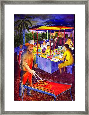 Taco Barbaque Framed Print by Buster Dight