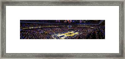 Taco Bell Arena And Boise State Basketball Framed Print by Lost River Photography