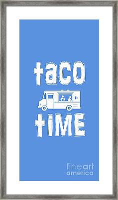 Taco Time Food Truck Tee Framed Print by Edward Fielding