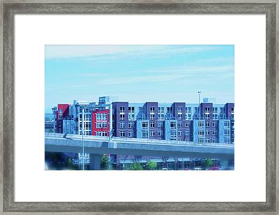 Framed Print featuring the photograph Tacoma Blues - Cityscape Art Print by Jane Eleanor Nicholas