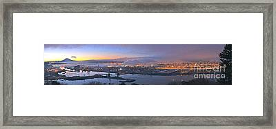 Tacoma Dawn Panorama Framed Print
