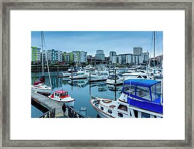 Tacoma Waterfront Marina,washington Framed Print