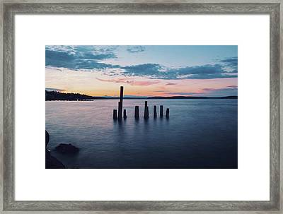 Tacoma Waterfront Ruins At Golden Hour Framed Print by Petar Fourlinski