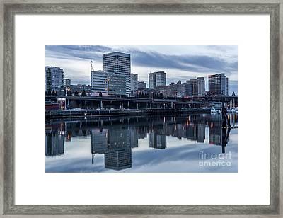 Tacoma Waterfront,washington Framed Print