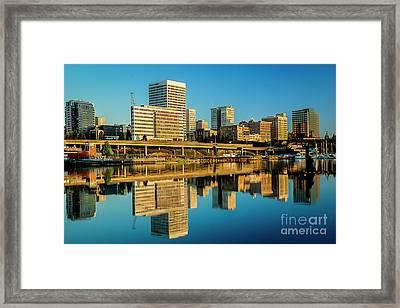 Tacoma's Waterfront,washington Framed Print