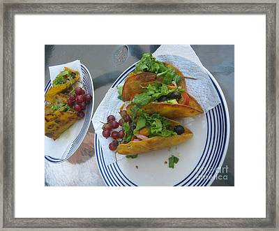 Framed Print featuring the photograph Tacos Almost Mirrored by Marie Neder