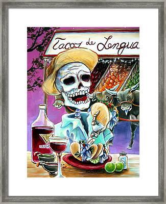 Tacos De Lengua Framed Print