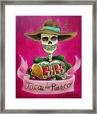 Tacos De Puerco Framed Print