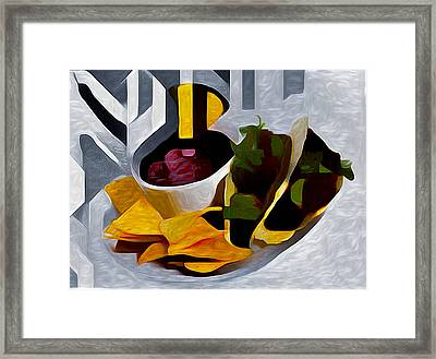 Tacos Framed Print by Roger Smith