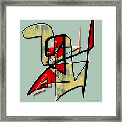 Tactile Space   IIi Framed Print by Stephen Lucas