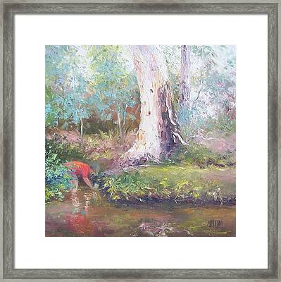 Tad Poling By The River Framed Print by Jan Matson