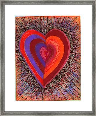 Tada Heart Framed Print by Brenda Adams