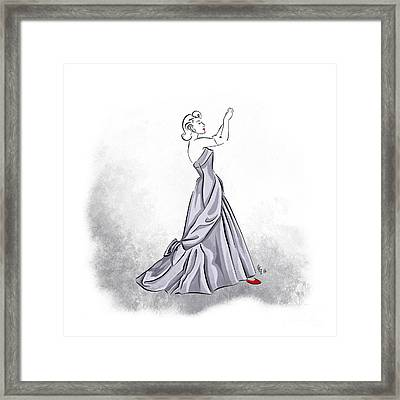 Framed Print featuring the digital art Taffeta Gown by Cindy Garber Iverson