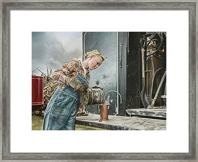 Taffeta Framed Print by Lee Alban