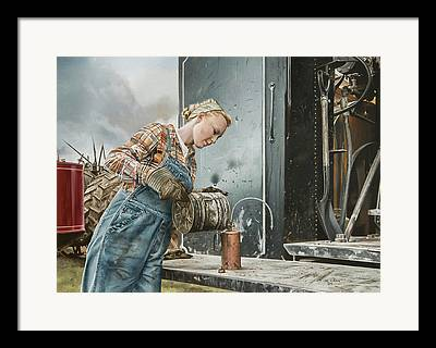 Steam Tractor Framed Prints