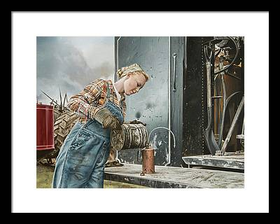 Steam Tractor Framed Prints