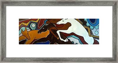 Taffy Horses Framed Print by Valerie Vescovi