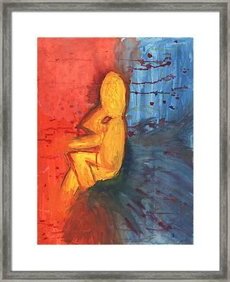 Thinking Man Framed Print by Hakim Midan