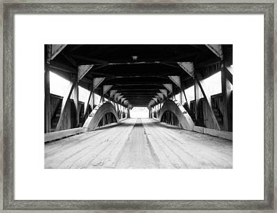 Taftsville Covered Bridge Framed Print by Greg Fortier