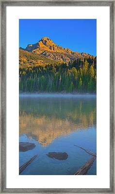 Taggart Lake Triptych Right Panel Framed Print by Greg Norrell